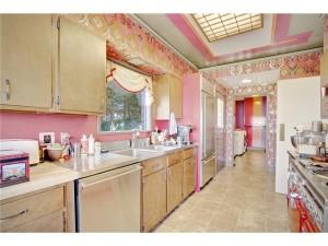 crazy pink kitchen