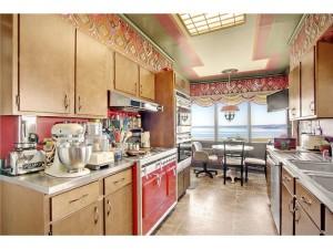 crazy red kitchen